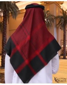 Shemagh d'hiver de couleur noire et rouge