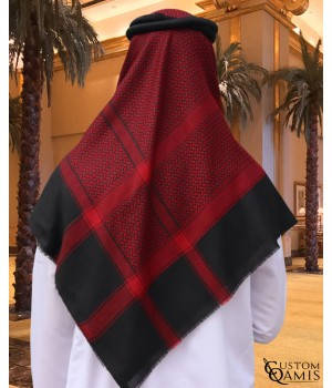 Shemagh for Winter - red and Black