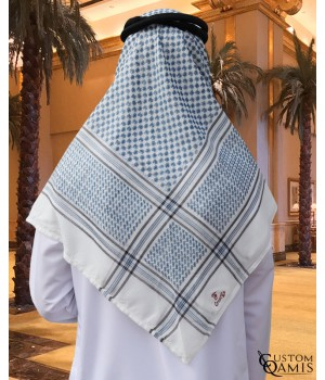 Sky blue and White Shemagh