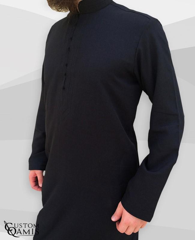 Qamis Sultan Imperial noir