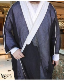 Bisht - Custom-made - Black with silver borders