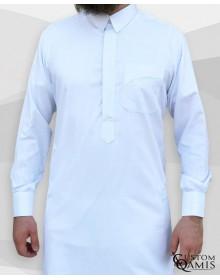 Qamis Qatari Tissu Platinium blanc