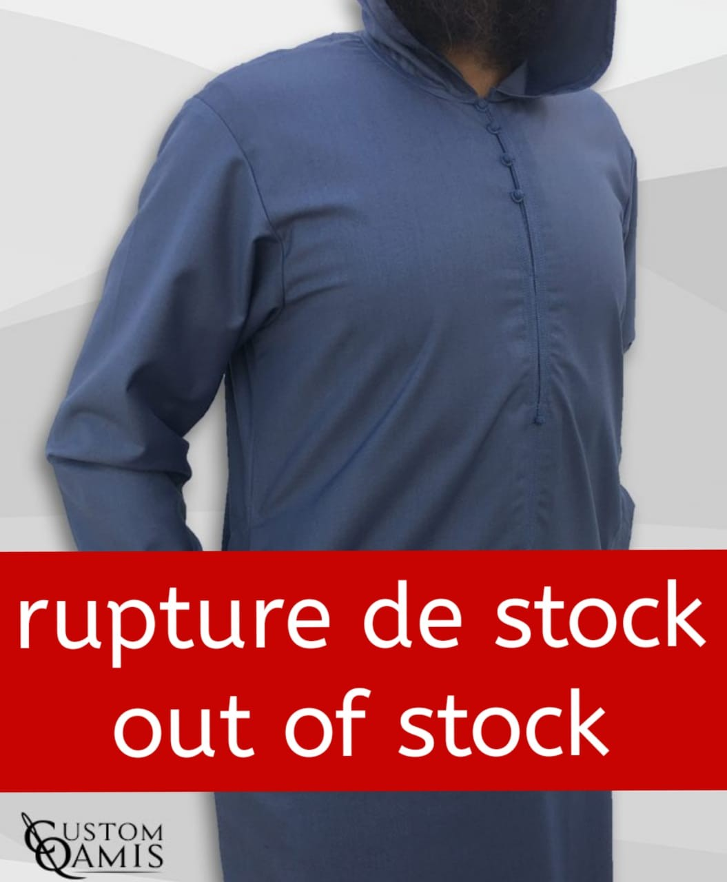 Djalabiya tissu Cashmere Wool gris bleuté