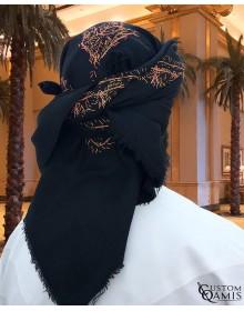 Black Embroidered Yemeni Shemagh