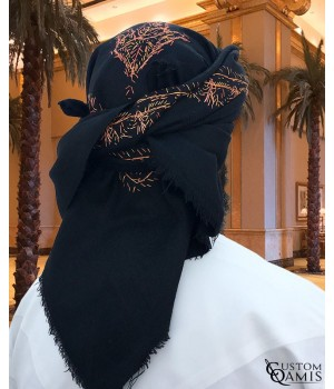 Black Embroidered Yemeni Shemagh