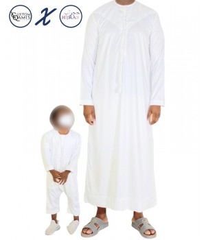 Ensemble père/fils Qamis Emirati + Qamis body Hijrab