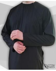 Qamis Imad Cotton noir
