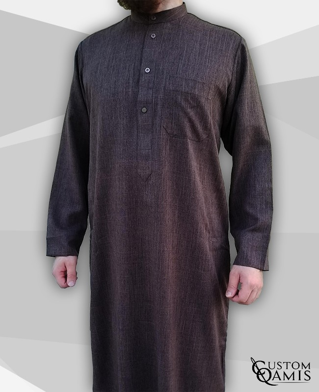 Kuwaiti Thobe brown Imperial Fabric
