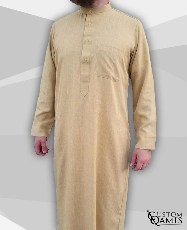 Kuwaiti Thobe mustard Imperial Fabric