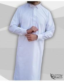 Qamis Classic Cutaway blanc Tissu Platinium