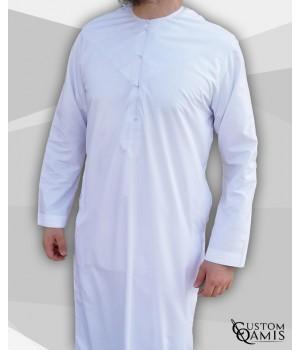Emirati Thobe fabric Luxury white satin