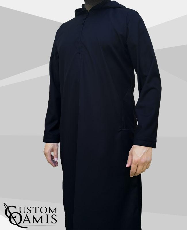 Djalabiya fabric Cashmere Wool navy Blue