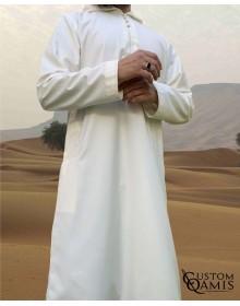Djalabiya fabric Cashmere Wool Cream