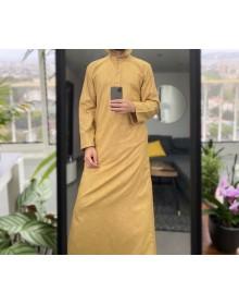 Djalabiya tissu Linen couleur beige