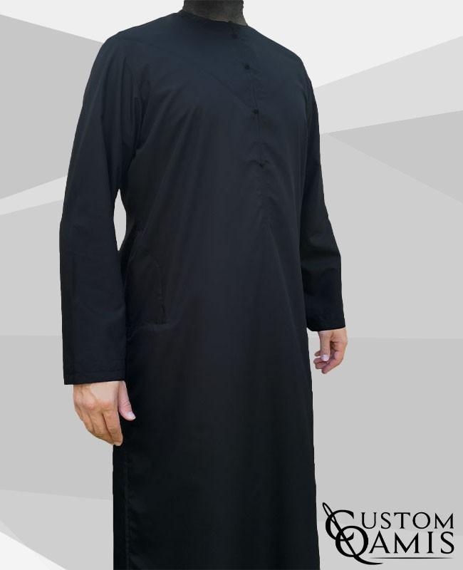 Emirati Thobe fabric Cotton black