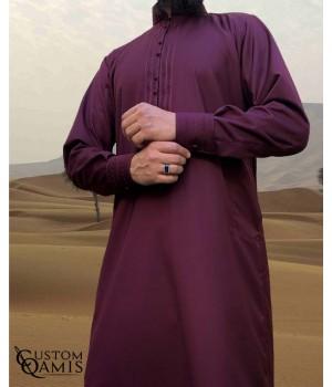 Sultan Thobe Cashmere Wool Burgundy