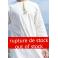 Omani thobe Linen cream fabric and light yellow embroidery